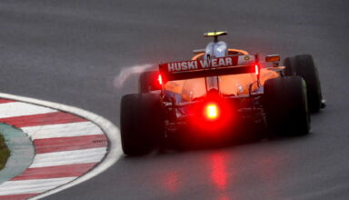 Lando Norris, McLaren MCL35M rear
