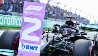 2021 US GP Hamilton Mercedes after Qualifying Photo Daimler