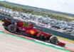 2021 US GP Leclerc Ferrari SF21 side shot Photo Ferrari