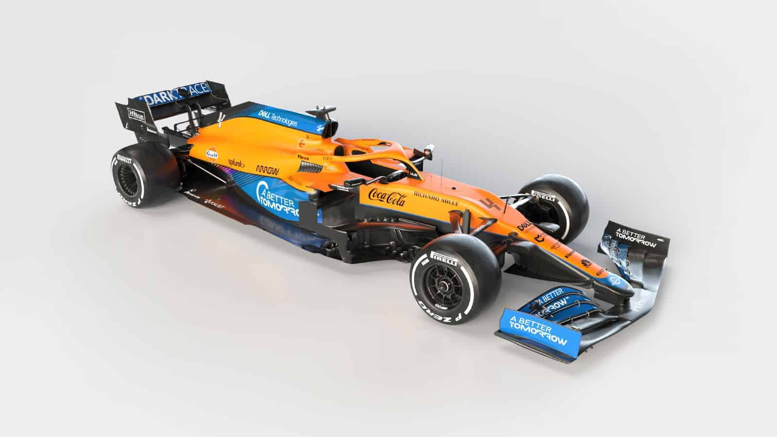 2021 McLaren MCL35M Mercedes launch studio photo Photo McLaren