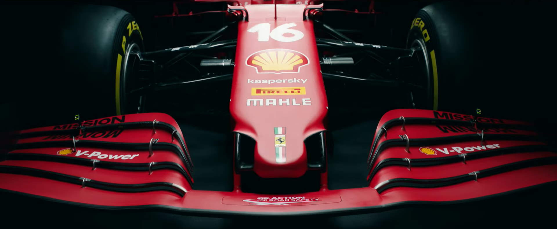 2021 Ferrari SF21 Screenshot Youtube F1 launch nose and front wing Photo Ferrari
