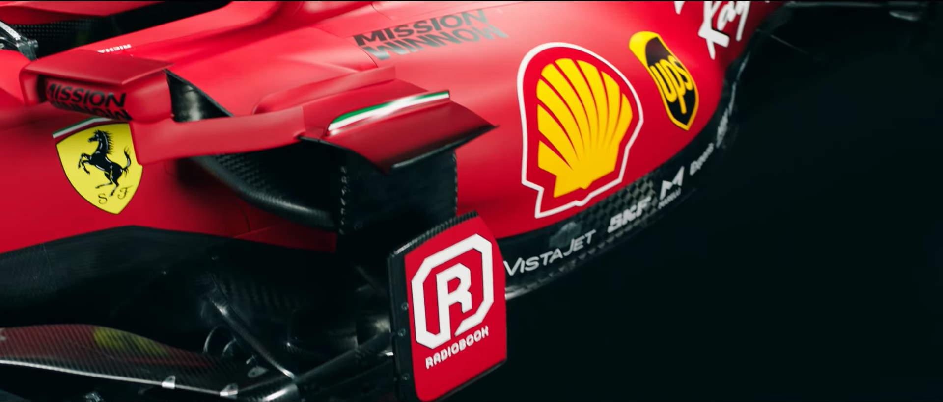 2021 Ferrari SF21 Screenshot Youtube F1 launch sidepod area Photo Ferrari