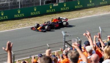 2021 Dutch GP Zandvoort circuit Verstappen Red Bull RB16B after Q Photo Red Bull